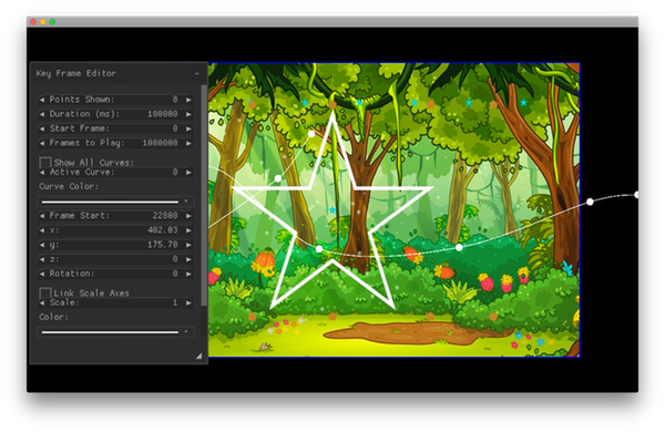 Fairy path keyframe editor